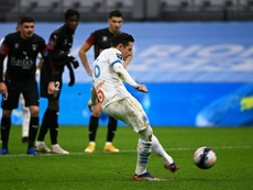 Thauvin falló un penalti. AFP