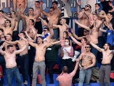 El campeonato bielorruso, al rojo vivo. AFP