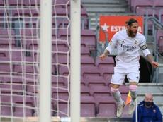 Ramos made two bits of history v Huesca. AFP