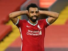 Mohamed Salah marcou três gols na vitória do Liverpool sobre o Leeds. AFP