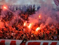 El fútbol serbio volverá a finales de mayo. AFP/Archivo