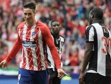 Fernando Torres agradeció el cariño a su afición. AFP