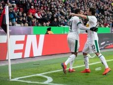 El Borussia Monchengladbach cayó a la tercera posición. AFP