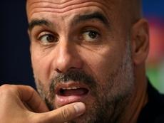 Pep Guardiola Manchester City. AFP