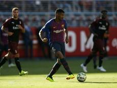 Nadie se acuerda de Marlon en el Camp Nou. AFP