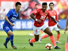 El fútbol por fin vuelve a China. AFP