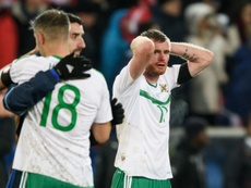Chris Brunt retires from Northern Ireland duty. AFP