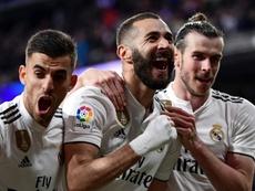 Benzema regala la vittoria ai blancos. AFP
