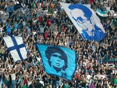 Napoli fans still celebrate Diego Maradona. AFP