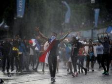La célébration du Mondial a fait des incidents en France. AFP