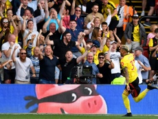 Pereyra scored the equaliser as Watford fought back to claim a draw versus Arsenal. AFP