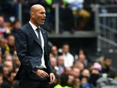 Zidane ya es el sexto entrenador con más partidos en Liga. AFP