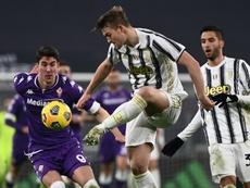 Vlahovic, el 'nuevo Adriano' que despunta en Italia. AFP