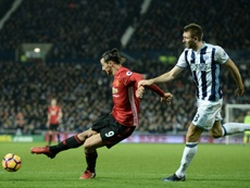Ibrahimovic netted twice against the Baggies. AFP