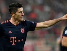 Lewandowski no tiene techo: ¡ya lleva sólo un gol menos que el Madrid! AFP