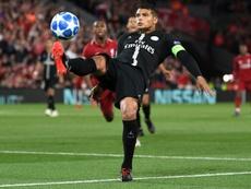 Paris Saint-Germain capitão Thiago Silva. AFP
