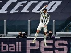 Provoqué sur sa célébration, Ronaldo se fait justice. afp