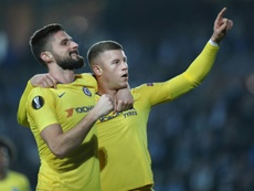 Ross Barkley and Olivier Giroud were on target as Chelsea overcame Malmo 2-1. AFP