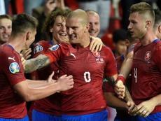 Ondrasek was the hero for Czech Republic on a memorable night in Prague. AFP