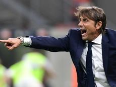 Conte suma dos victorias con el Inter en partidos oficiales. AFP