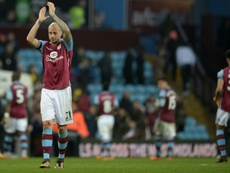 Hutton is staying at Villa. AFP