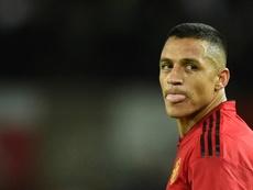 Alexis sigue muy a disgusto en Old Trafford. AFP