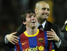 Guardiola no quiere fichar a Messi. AFP