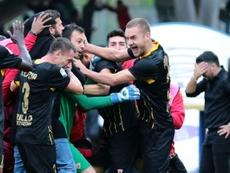 Brignoli revels in historic goal. AFP