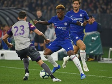 Sarri told Hudson-Odoi to be patient in his search for first-team football. AFP