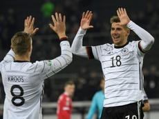 Alemania, Holanda, Austria y Croacia se apuntan a la Eurocopa. AFP