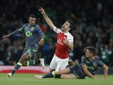 El Arsenal no consiguió disparar a puerta. AFP
