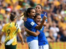 El penalti de Marta a Australia le convirtió en única. AFP