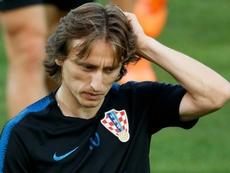 Modric demostró su satisfacción por el papel de Croacia este año. AFP