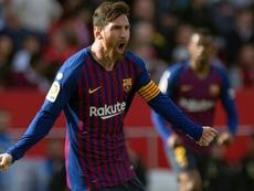 O melhor assistente da Europa é Messi. AFP
