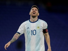 Scaloni happy with Messi after injury worry. AFP
