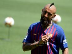 Conte pede um esforço final por Vidal. AFP