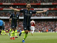 Bernardo scored on City's opening day victory at Arsenal. AFP