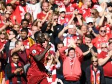 O Liverpool venceu o Wolves mas não conseguiu sagrar-se campeão da Premier League. AFP