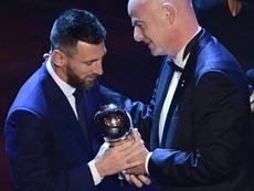 Messi fue el 'The Best' '2019. AFP