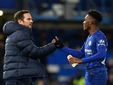 Lampard encense le travail d'Hudson-Odoi. AFP