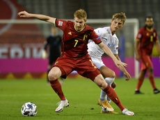 De Bruyne forfait contre l'Islande. afp