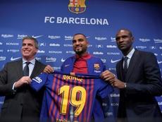 El Barcelona no pierde el tiempo en los despachos. AFP