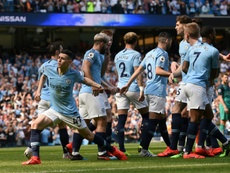 Phil Foden scored the winning goal against Tottenham. AFP