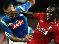 Napoli beat Liverpool 1-0 when the clubs last met in October. AFP
