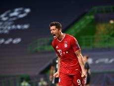 Robert Lewandowski foi eleito o jogador alemão da temporada. AFP
