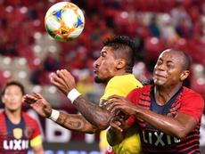 Paulinho no metió ningún gol. AFP