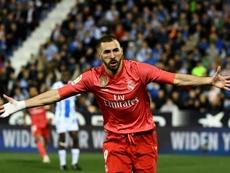 Karim Benzema à toute vitesse. AFP