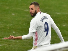 Karim Benzema was booked after a long period with no yellows.AFP
