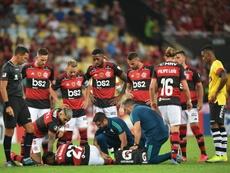 Flamengo valia 151,2 milhões e hoje vale 121,78 milhões de euros. AFP