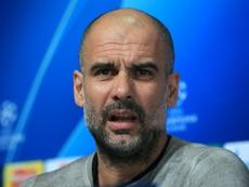 El extraño cambio de Guardiola con los porteros suplentes. AFP